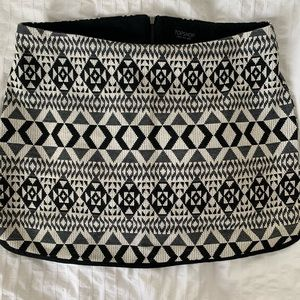 Aztec style mini skirt from top shop